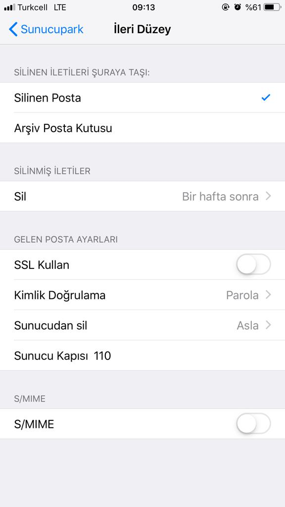 Iphone Mail Kurulumu Adim7